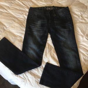 Express REROCK glitter straight Jeans